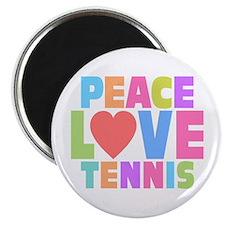 "Peace Love Tennis 2.25"" Magnet (10 pack)"