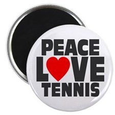 "Peace Love Tennis 2.25"" Magnet (100 pack)"