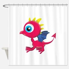 baby dragon copy.png Shower Curtain