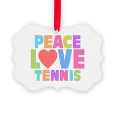 Peace Love Tennis Ornament