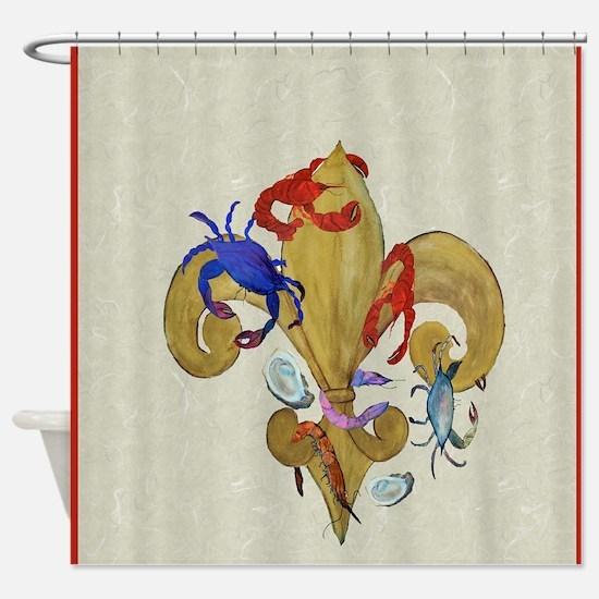 Cajun Fleur de lis Shower Curtain
