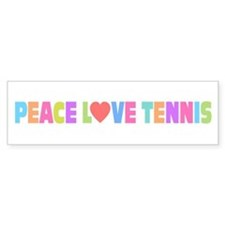Peace Love Tennis Bumper Sticker