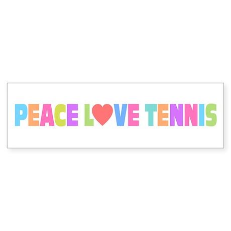 Peace Love Tennis Sticker (Bumper)