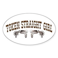 Token Straight Girl - Rodeo S Oval Decal