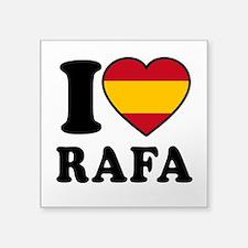 """I Love Rafa Nadal Square Sticker 3"""" x 3"""""""