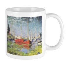 Red Boats at Argenteuil Small Mugs
