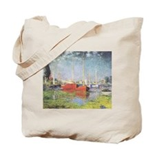 Red Boats at Argenteuil Tote Bag