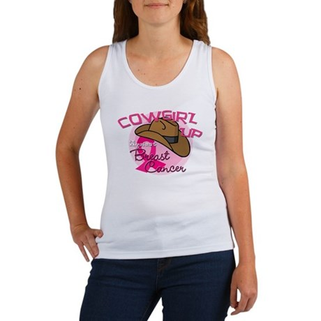 Cowgirl Up Against Breast Cancer Women's Tank Top