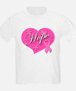 Pink Ribbon Breast Cancer Heart Of HOPE T-Shirt