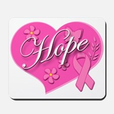 Pink Ribbon Breast Cancer Heart Of HOPE Mousepad