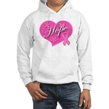 Pink Ribbon Breast Cancer Heart Of HOPE Hoodie Sweatshirt