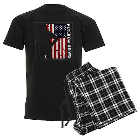 Never Back Down USA MMA Men's Dark Pajamas