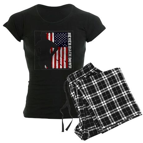 Never Back Down USA MMA Women's Dark Pajamas