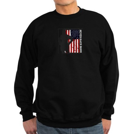 Never Back Down USA MMA Sweatshirt (dark)