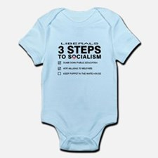 3 Steps To Socialism Infant Bodysuit
