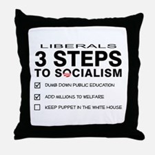 3 Steps To Socialism Throw Pillow