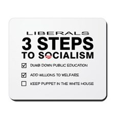 3 Steps To Socialism Mousepad