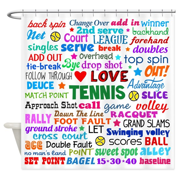 tennis terms Tennis terms en español, ¿hablamos  well i say 'playing tennis' i mean hitting  the ball sometimes and occassionally it wings over the net.