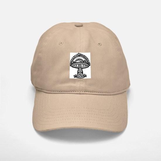 Abstract Mushroom Baseball Baseball Cap