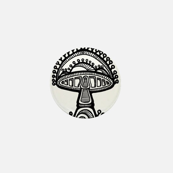 Abstract Mushroom Mini Button (100 pack)