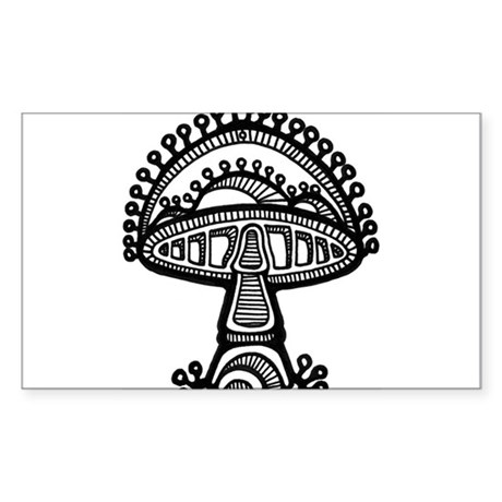 Abstract Mushroom Rectangle Sticker