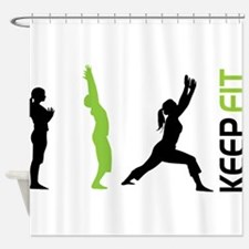 Keep Fit Shower Curtain