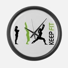 Keep Fit Large Wall Clock