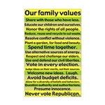 Our Family Values 11x17 poster