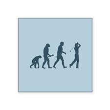 "Golfing Evolution Square Sticker 3"" x 3"""