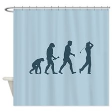 Golfing Evolution Shower Curtain