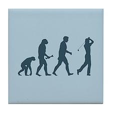 Golfing Evolution Tile Coaster