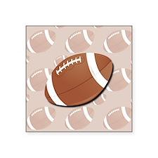 "Football Square Sticker 3"" x 3"""