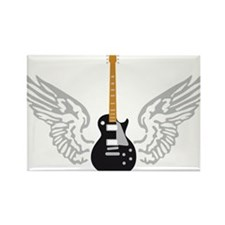 e-guitar player wings Rectangle Magnet