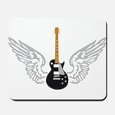 e-guitar player wings Mousepad