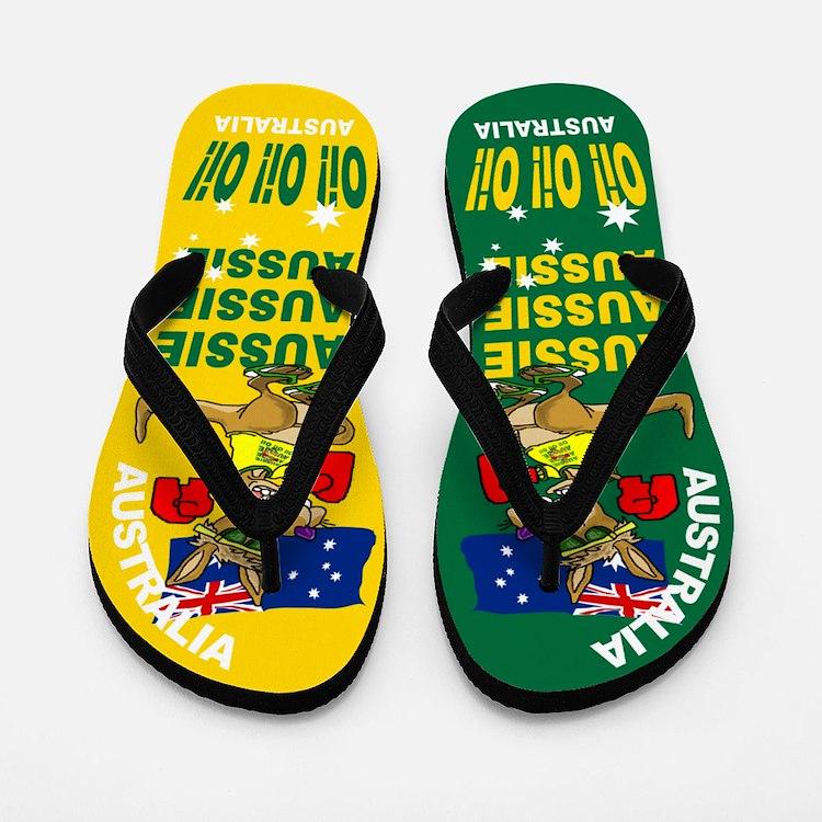 Aussie Oi Oi OI Flip Flops