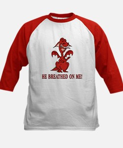 He Breathed on Me Kids Baseball Jersey