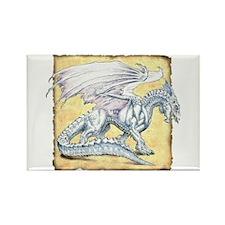 White Dragon Rectangle Magnet