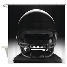 Football Helmet Shower Curtain