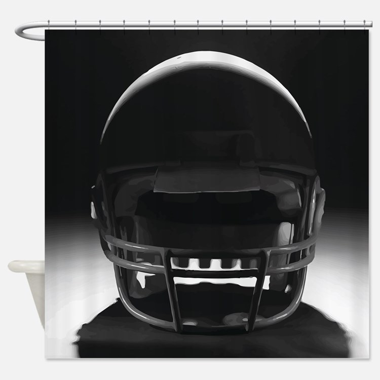 Football Helmet Shower Curtain