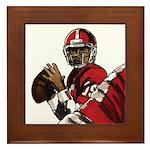 Football Players Framed Tile