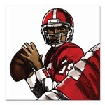Football Players Square Car Magnet 3
