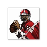 Football Players Square Sticker 3