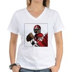 Football Players Women's V-Neck T-Shirt