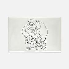 Monkey Rectangle Magnet (10 pack)