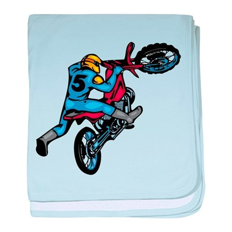 Motorcross baby blanket