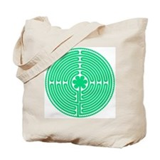 Green Labyrinth Tote Bag