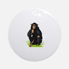 Monkey Ornament (Round)