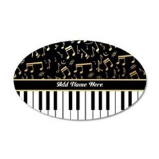 Personalized Piano musical notes designer Wall Sticker