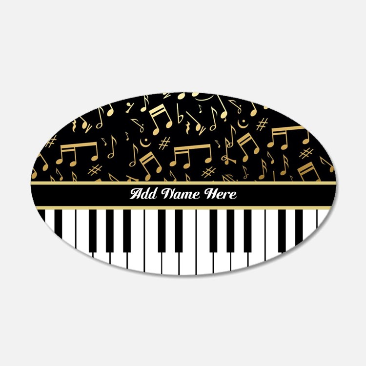 Personalized Piano musical notes designer Wall Decal