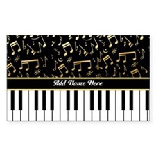 Personalized Piano musical notes designer Decal